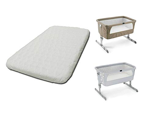 1stopbabystore Colchón de lujo para cuna Chicco Next2Me, Next to Me Crib cómodo colchón para bebé, transpirable y lavable con cremallera (83 x 50 x 6 cm)