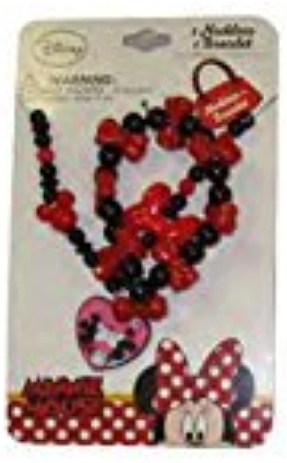 Disney Mickey and Minnie Mouse Baby Girls Dress Up Accessory  Bracelet and Necklace Set