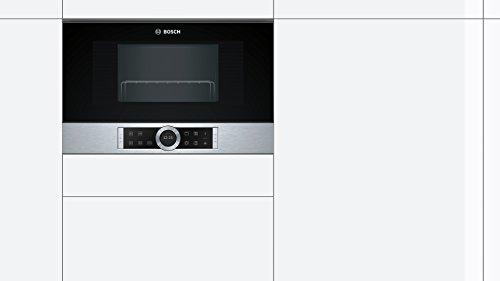 900 W // 1300 W Siemens BE634LGS1 iQ700 Microondas integrable // encastre sin marco con grill color negro con acero inoxidable 21 L