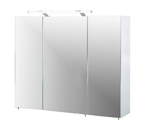 Schildmeyer Spiegelschrank, Melaminharzbeschichtete Spanplatte, weiß, 90 x 16 x 75 cm