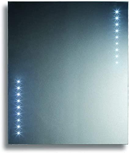 Espejo de Baño Led Points 75x90 Vertical con colgadores incluidos de Sencilla instalación. Espejo Baño Retroiluminado, baanio, de luz Fría Directa. Espejo de Pared Moderno. Luna Decorativa