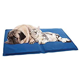 ADEPTNA Self Cooling Gel Pet Dog Cat Cool Mat Pad Bed Mattress Heat Relief Non-Toxic Cooling Technology to Help Your Pets Cool Down in the Summer Heat SIZE 60CM X 44CM 13