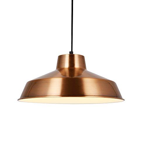 lux.pro Lampada a sospensione L'Avana di design Ø35cm metallo rame/bianco lampada da soffitto