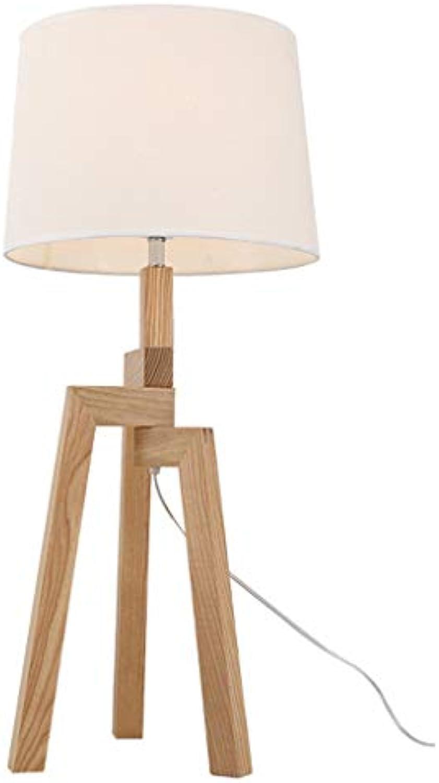 Schreibtischlampen- Nordic Tischlampe Schlafzimmer Nachttischlampe Studie energiesparende einfache moderne kreative Persnlichkeit Massivholz Schreibtischlampe