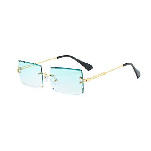 Sweo Sonnenbrille, rahmenlos, quadratisch, für Herren und Damen, kleine Farbe