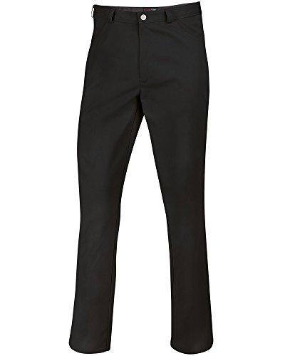 BP 1643-400-32-3XLn Unisex-Hose, Jeans-Stil mit verstellbarem Gummizug hinten, 215,00 g/m² Stoffmischung, schwarz, 3XLn
