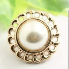 DINGM 10 Piezas/Juego de Botones de Perlas de Metal Dorado, Bricolaje, utilizados para Accesorios de Ropa, adecuados para Coser y Decorar Ropa