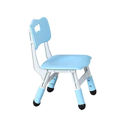 UKtrade - Silla de estudio combinada para niños, altura ajustable, diseño para estaciones de trabajo interactivas, asiento ergonómico universal para niños (azul)