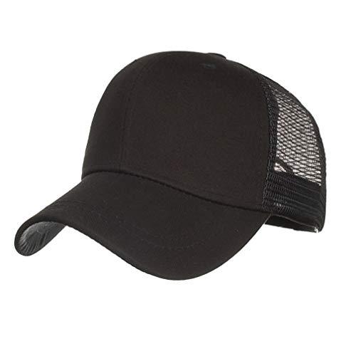 Baseball Cap Basecap Unisex Schwarz Baseball Kappen Baseball Mützen für Draussen, Sport oder auf Reisen (Schwarz)