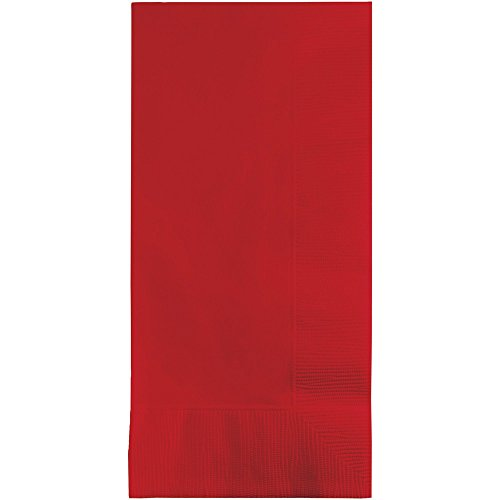 Creative Converting 50 gorgeous CLASSIC RED Dinner Napkins for Wedding, Party, Bridal or Baby Shower, Disposable Bulk Supply Quality Product