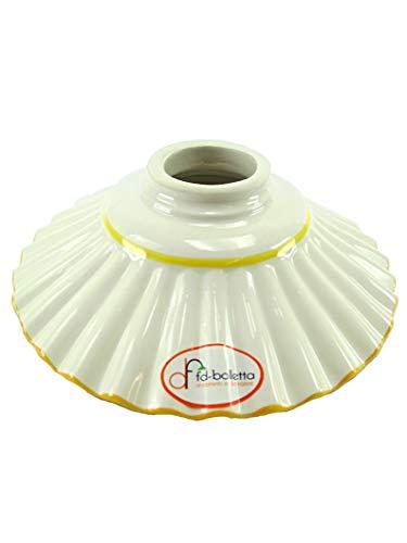 Ersatzkeramik für Lampen, Lampenschirme aus Messing, Eisen, Lampenschirm aus Keramik mit gelber...