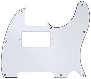 Musiclily 8 Agujeros Tele Pickguard Golpeador Humbucker HH para Fender American/México Standard Telecaster Estilo Moderno,3 capas Blanco