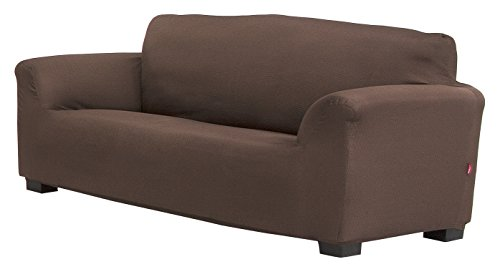 Belmarti Toronto - Funda sofa elástica Patternfit, 3 Plazas, color Marrón