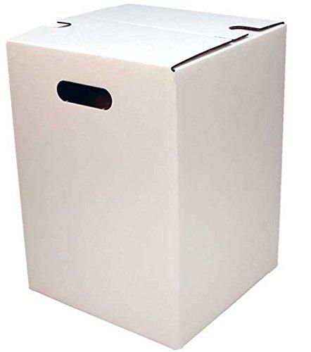 Faltkarton Papphocker weiß Außenmaß: 300 x 300 x 420 mm 10 Stück Frei Haus
