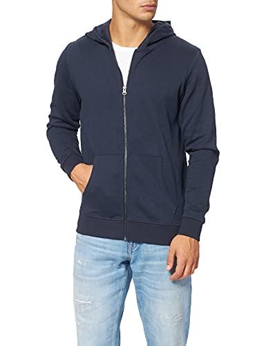 JACK & JONES Jungen Jjebasic Zip Hood Noos Jr Cardigan Sweater, Navy Blazer, 152 EU