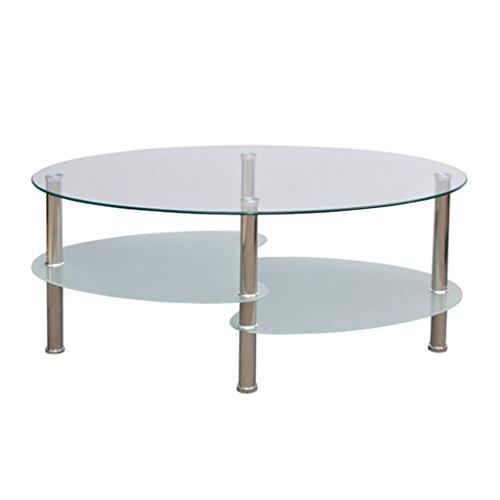 VidaXL Exclusieve designer salontafel 3 legplanken wit 1