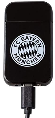 Bayern München kompatibel Feuerzeug USB + Aufkleber München Forever, USB-Feuerzeug Sturmfeuerzeug