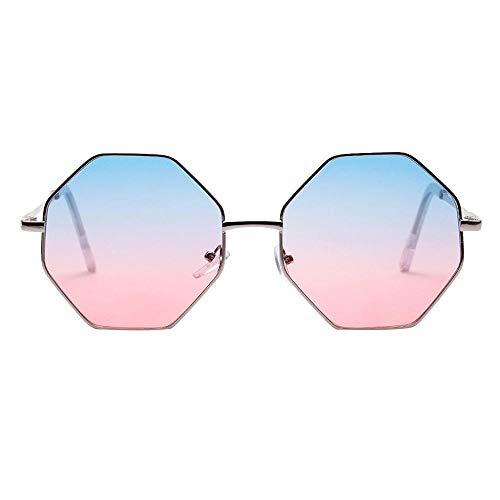 VJGOAL Mujer Vintage hexagonal Gafas de sol Moda Gafas Protección contra la radiación de la moda