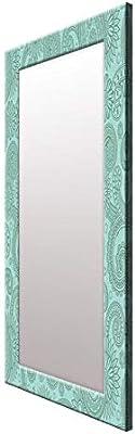 999Store Printed Blue Mandala Pattern Mirror