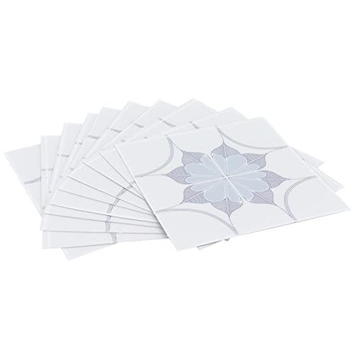 Yosoo123 10 Piezas de Pegatinas para Azulejos, calcomanías de Pared Autoadhesivas Impermeables únicas, con película Reflectante de Espejo, 10x10cm(01)