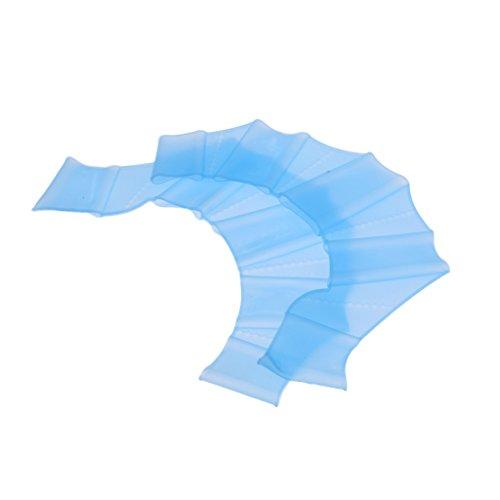 Gazechimp Silikon Schwimmhäute für die Finger, Wassersport Handflossen - Kinder Erwachsene - Blau, S