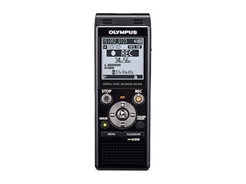 Olympus WS-853 Grabadora digital de voz de calidad con Micrófonos Estéreo incorporados, USB Directo, Equilibrador de Voz, Cancelación de Ruido, Modo Simple, Filtro Low-Cut y 8 GB de memoria