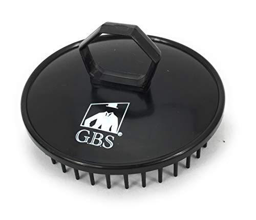 GBS Shower Shampoo Massage Brush No.100 - Single Black Brush - Best Scalp Shower Head Scrubber Promotes for Hair Growth. The Multi Purpose Pocket Size Brush is Great for Wet or Dry Hair for Women Men