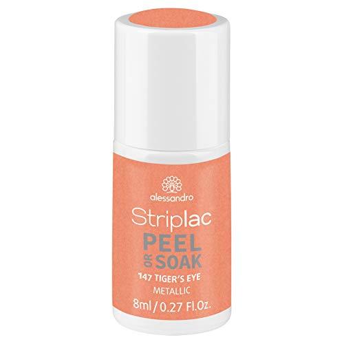 alessandro Striplac Peel or Soak Tiger's Eye - LED-Nagellack in Apricot - Für perfekte Nägel in 15 Minuten, 8 ml