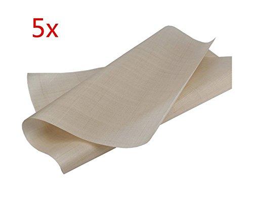 Eagles 5pcs Feuilles Papier sulfurisé,Le Papier de Cuisson réutilisable de première qualité,revêtement antiadhésif et Lavable au Lave-Vaisselle, 60 x 40 cm