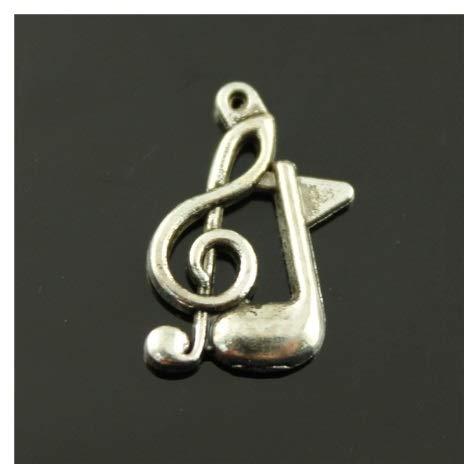 DLM-29001 (Kit 24 Pezzi) Ciondolo Ciondoli Charm Charms Chiave di Violino sol Nota Musicale Musica Confettata Fai da Te bomboniera