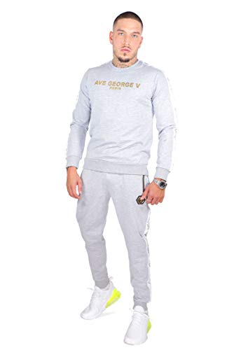Avenue George V Paris trainingspak in grijs joggingpak met labelprint op de borst