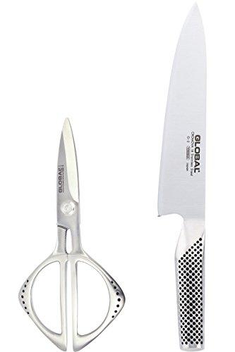 Global - G2210 - Set Forbice e Coltello trinciante G2 - coltello cucina