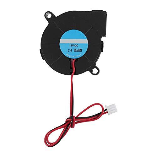 Jingyig Ventilador de Alta Velocidad de 12 V / 24 V, Ventilador de 50 * 50 * 15 mm, refrigeración para Impresora 3D para Accesorios de Bricolaje(12V)