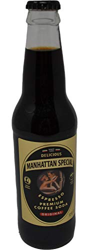 Manhattan Special - Regular - Premium Coffee Soda - 12 oz (6 Glass Bottles)