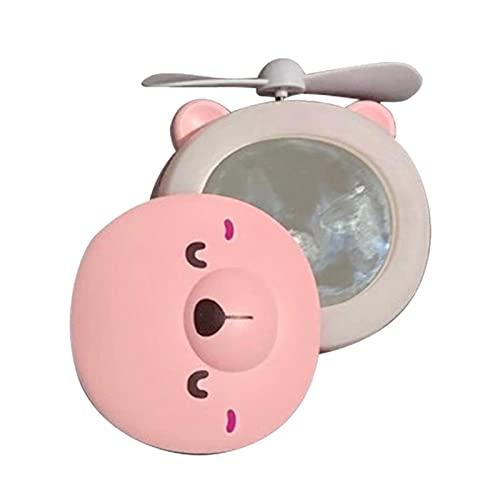 Professionelle beleuchtete Make-upspiegel Kompakte Spiegel-Bär-Form 16 eingebaute LED-Leuchten wiederaufladbar mit Fan für Frauen Kinder und Makeup Künstler Geschenk