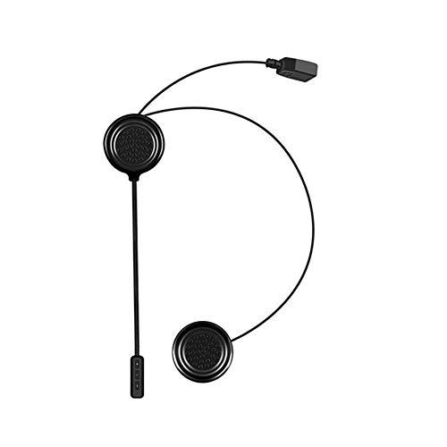 Jorzer Casco de la Motocicleta de la Motocicleta Impermeable Auricular Bluetooth Headset Altavoces de intercomunicación de Manos Libres de Llamadas Música Negro de Control