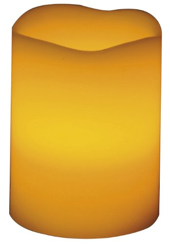 Beco 1 LED Echtwachskerze, 7.6 x 10 cm, exklusiv 3 x AAA Batterie, champagner 881.00