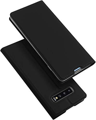 DUX DUCIS Hülle für Samsung Galaxy S10, Leder Flip Handyhülle Schutzhülle Tasche Case mit [Kartenfach] [Standfunktion] [Magnetverschluss] für Samsung Galaxy S10 6,1