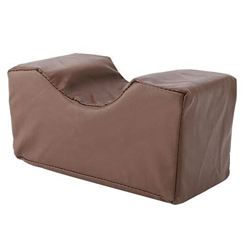 2 colores alivian el dolor Cojín de cuña de esponja de cuero PU Cojín de soporte de esponja extraíble para muñecas(Brown, 20 * 10 * 10cm)