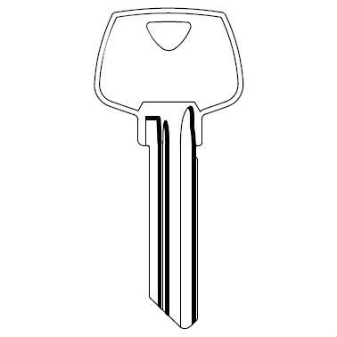 Kaba Ilco Sargent 6 Pin LA Brass Key Blank (O1007LA) 50 Pack S22