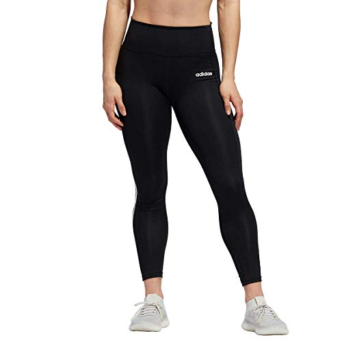 adidas Ladies' 7/8 3-Stripe Active Tight Black - Large