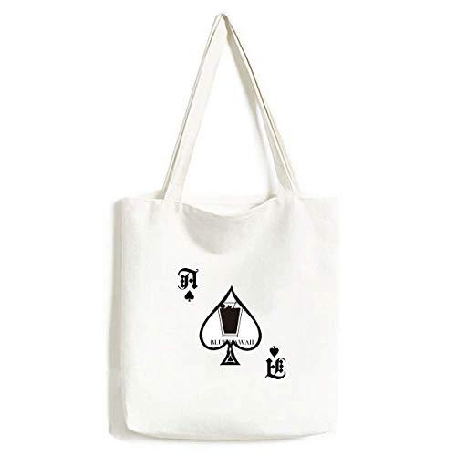 Silhouette of Blue Hawaii Cocktail Handtasche Craft Poker Spaten waschbare Tasche