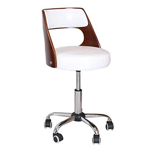 Lwjby Bureaustoel, moderne woonkamer, met rugleuning, retro design, keuken, bureaustoel, wit