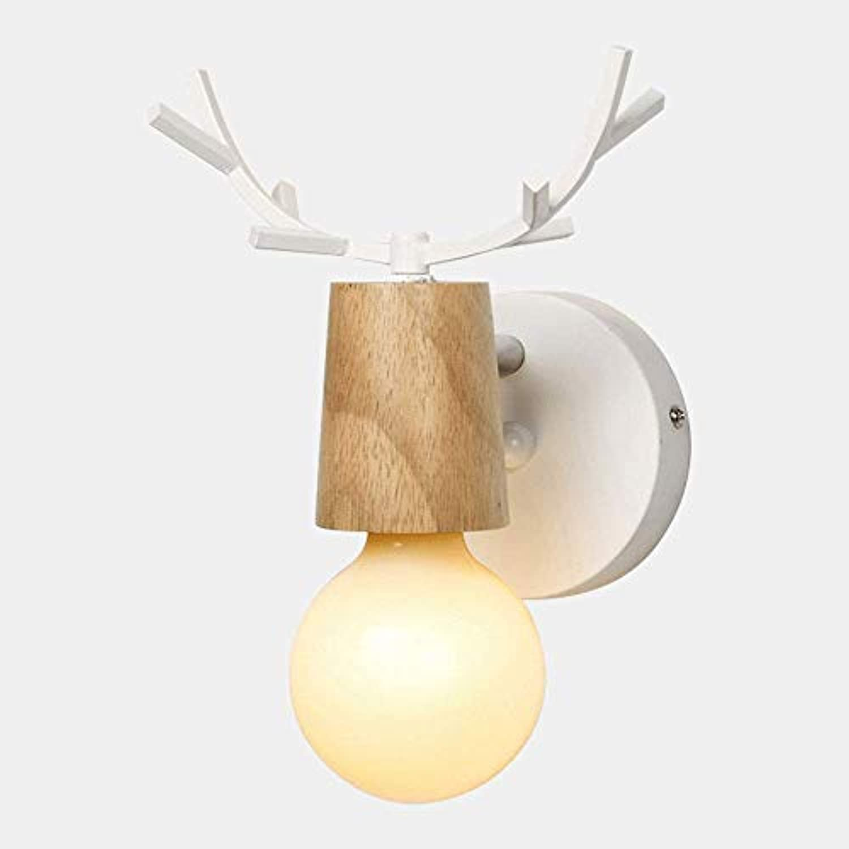 Kronleuchter Nette Kinder Wandleuchte Hirschkopf Holz Interessante Wandleuchte Wandlampen Dekoriert Wohnzimmer Gang Treppenhaus Sicherheit Lichter E27