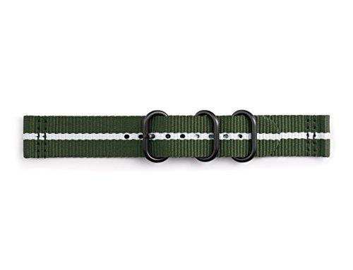 Samsung GP-R600BREECAD Premium NATO Armband aus Nylon für Gear Sport Grün/Weiß