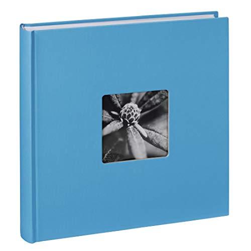 Hama Fotoalbum Jumbo 30x30 cm (Fotobuch mit 100 weißen Seiten, Album für 400 Fotos zum Selbstgestalten und Einkleben) hellblau