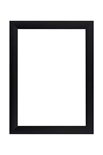 EUROLine35 mm Bilderrahmen für 75 x 105 cm Bilder, Farbe: Schwarz Matt, inkl. entspiegeltem Acrylglas und MDF Rückwand, Rahmen Breite: 35 mm, Außenmaß: 80,8 x 110,8 cm