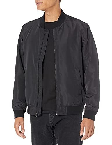 Amazon Essentials Men's Standard Lightweight Bomber Jacket, Black, Medium