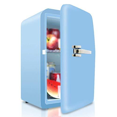 LKOER Mini Frigorifero 17L con Lucchetto Studente dormitorio Mini frigo per Camera da Letto tranquilla Mini frigo Portatile per Auto jinyang (Color : Blue)