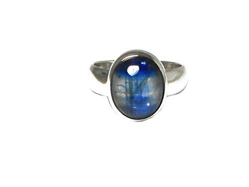 Art Gecko Ring aus 925er Sterlingsilber mit blauem ovalen Kyanit